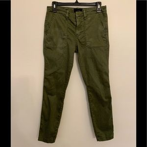 J. Crew Women's Olive Green Cargo Pants - Size 27